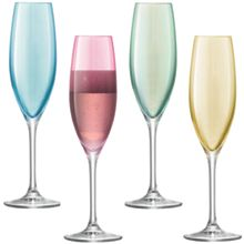 Polka Champagne Flute 225ml Pastel Assorted