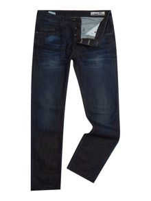 Duck and Cover Straight Fit Dark Wash Boxsir Jeans