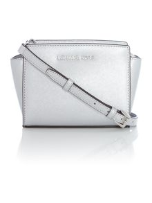 Selma silver mini cross body bag