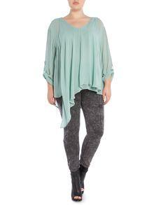 Label Lab Plus size long sleeve twist hem blouse