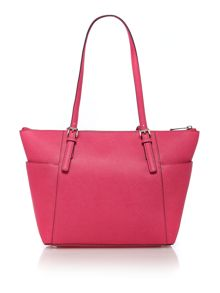 Jetset Travel pink zip top tote bag