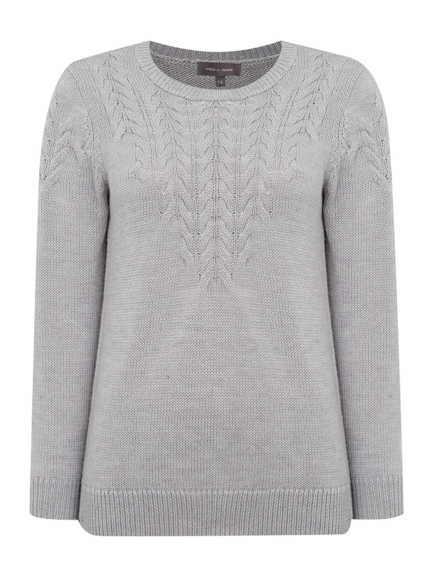 Pied a Terre Pied a Terre Cable knit, Grey