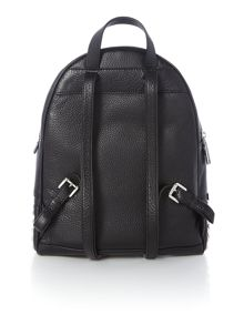 Michael Kors Rhea Zip black small studded backpack