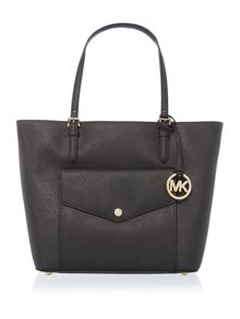 Michael Kors Jetset black large pocket tote bag