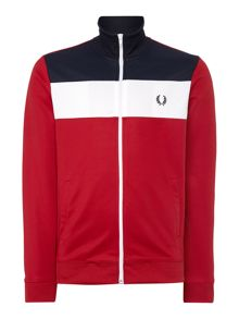 Colour Block Track Zip Fastening Jacket