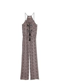 Bead printed jumpsuit