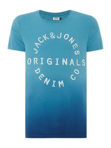Dip Dye Crew Neck Short Sleeve T-Shirt