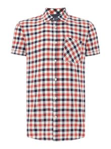 Short Sleeve Button Through Check Shirt