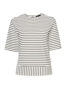 Stripe boxy top