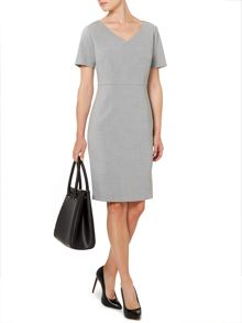 Ponte curve shift dress