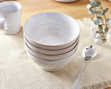 Linea Echo White Cereal Bowl Set of 4