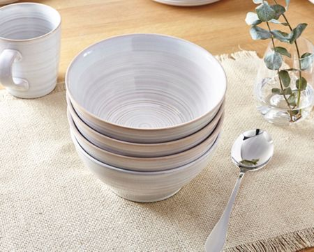 Linea Stoneware Cereal Bowl Set of 4