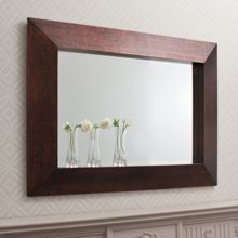 Linea Sherwood crackled wood mirror 118x87cm