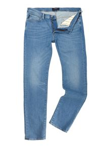 Slim Fit Light Wash Denim Jeans