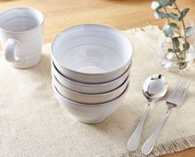 Linea Echo White Noodle Bowl Set of 4