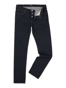 Tapered Fit Rinse Indigo Jeans