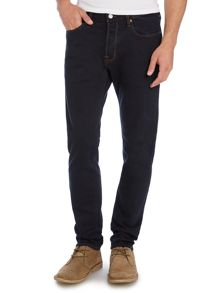 Tapered Fit Dark Indigo Jeans