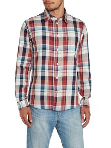 Paul Smith Jeans Tailored Fit Check Long Sleeve Shirt