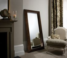 Sherwood crackled wood leaner mirror