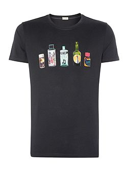 Exclusive Bottle Graphic Crew Neck T-Shirt