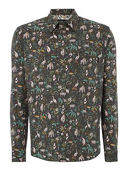 Tailored Fit Wildlife All Over Print Shirt
