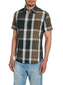 Tailored Fit Short Sleeve Check Shirt