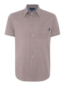 Short Sleeve Check Tailored Fit Shirt
