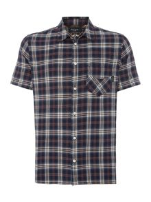 Paul Smith Jeans Check Short Sleeve 1 Pocket Shirt