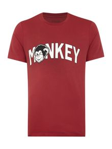 Monkey Graphic Crew Neck T-Shirt