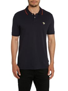 Slim Fit Tipped Collar Logo Polo Shirt