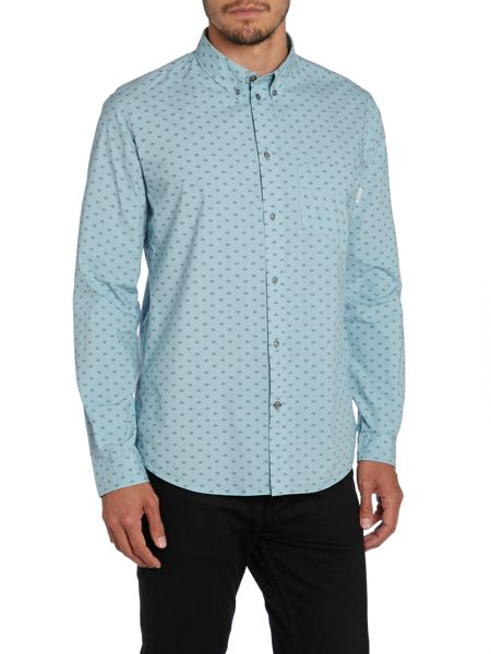Paul Smith Jeans Tailored All Over Print Long Sleeve Shirt