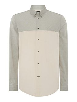 Classic Fit Cut-And-Sew Oxford Shirt