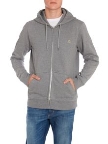 Plain Crew Neck Regular Fit Zip Hoodie