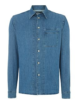 Tailored Fit Long Sleeve Denim Shirt