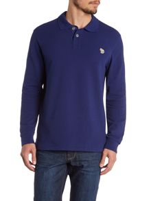 Zebra Longsleeve Regular Fit Polo Shirt