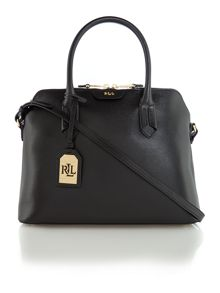 Lauren Ralph Lauren Tate black dome satchel bag
