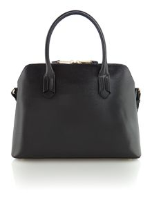 Tate black dome satchel bag