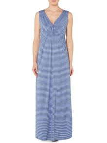 Feeder stripe jersey maxi dress