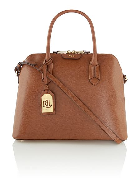 Ralph Lauren Tate Dome Satchel Laukku : Lauren ralph tate tan dome bag house of fraser