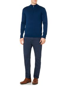 Linea Machine Washable Merino Zip Neck Jumper