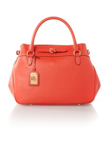 Layla orange belted tote bag