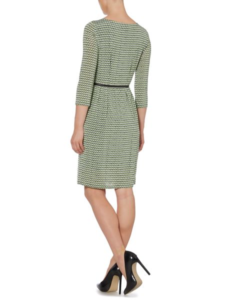 Max Mara Spider Long sleeve geo print dress