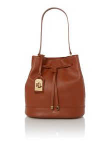 Crawley tan bucket bag