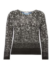 Acquario textured v neck jumper