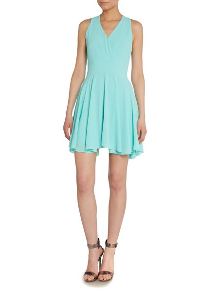 Wal-G Wrap front waisted dress