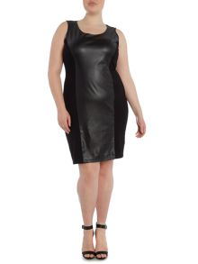 Plus Size Occhiali panelled jersey dress