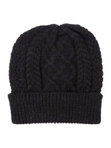 Howick Chunky Cable Knit Beanie Hat