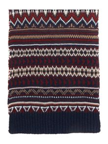 Criminal Patterned Chunky Knit Scarf