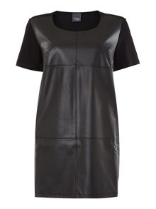 Plus Size Zaffiro leather effect dress