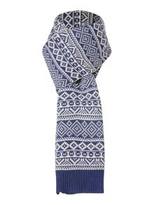 Howick Patterned Chunky Knit Scarf